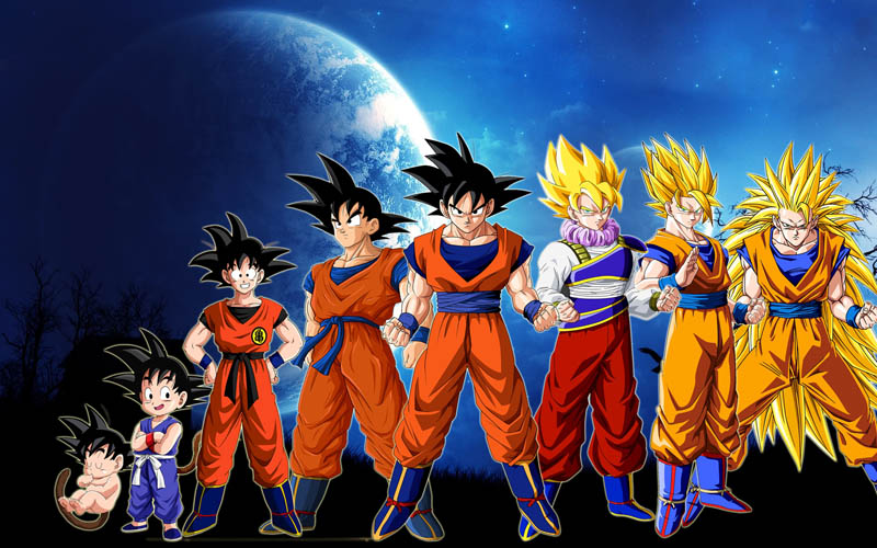 Transformasi Dan Bentuk Dari Super Saiyan Dragon Ball